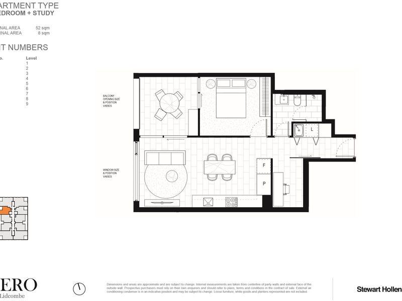 1110/13-17 Taylor Street, Lidcombe, NSW 2141 - floorplan