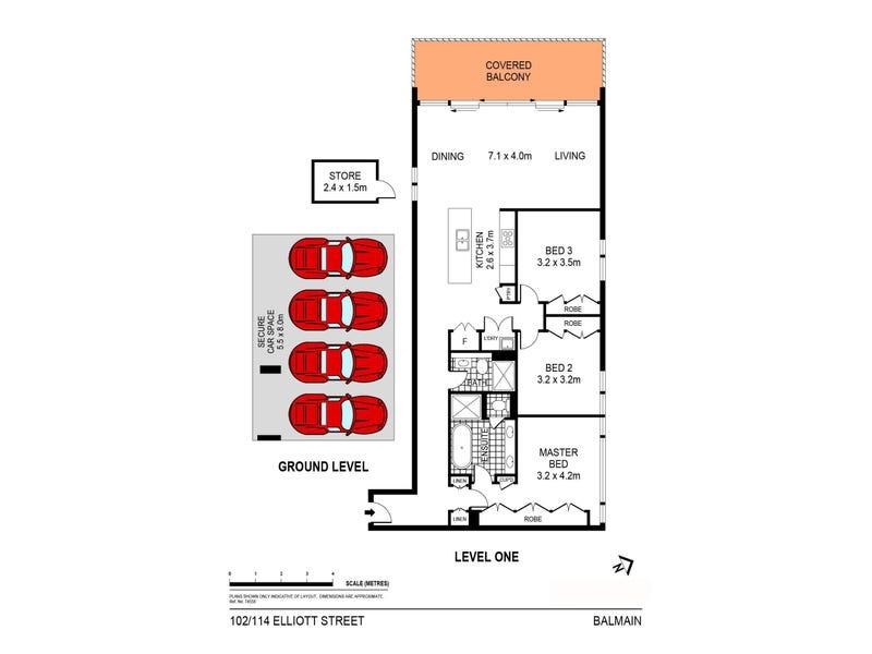 102/114 Elliott Street, Balmain, NSW 2041 - floorplan