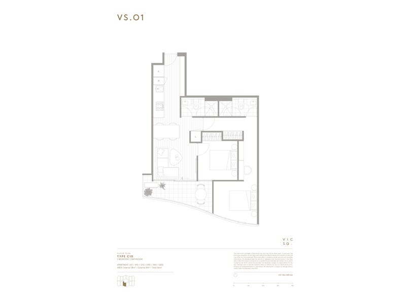 2010/8 Hallenstein Street, Footscray, Vic 3011 - floorplan
