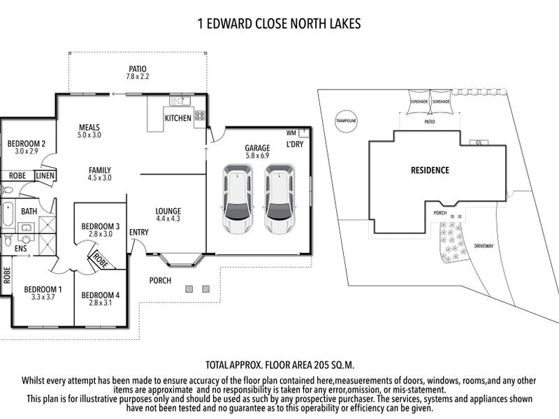 1 Edward Close, North Lakes, Qld 4509 - floorplan