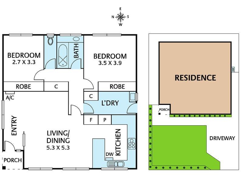 2/13 Ermington Place, Kew, Vic 3101 - floorplan