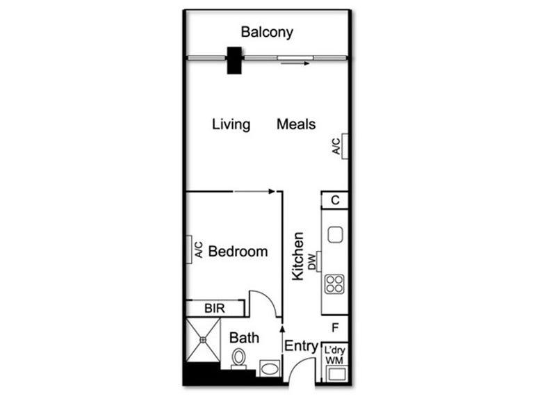 3103/350 William Street, Melbourne, Vic 3000 - floorplan