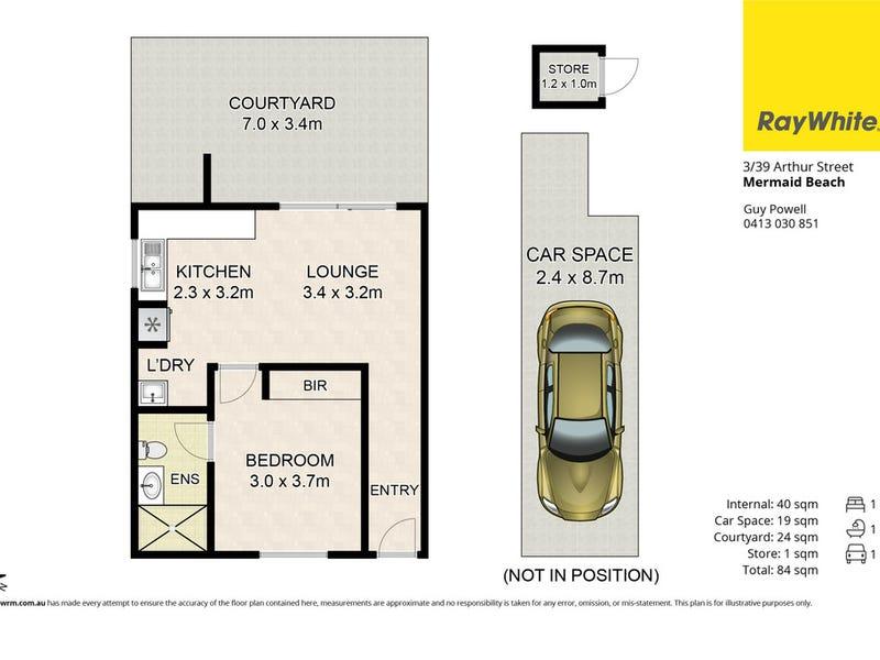 3/39 Arthur Street, Mermaid Beach, Qld 4218 - floorplan