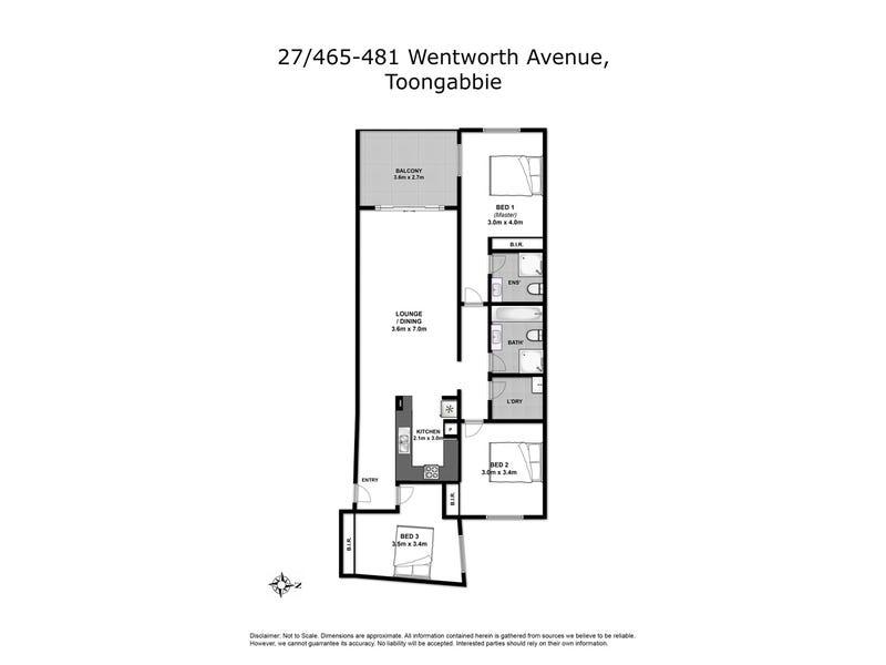 27/465-481 Wentworth Ave, Toongabbie, NSW 2146 - floorplan