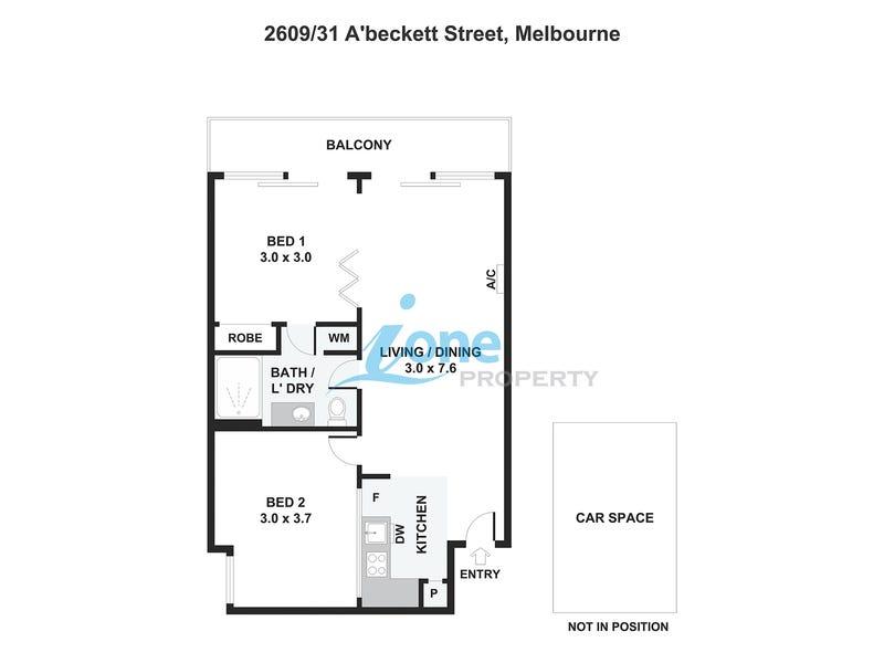 2609/31 A'beckett St, Melbourne, Vic 3000 - floorplan