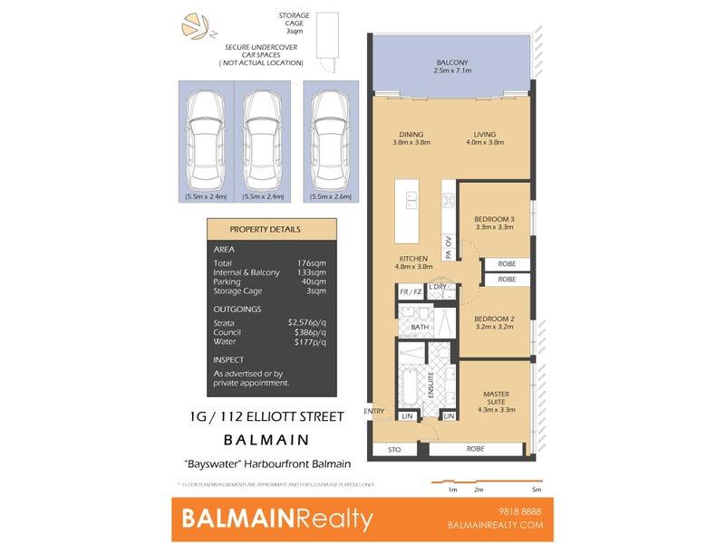 1G/112 Elliott Street, Balmain, NSW 2041 - floorplan