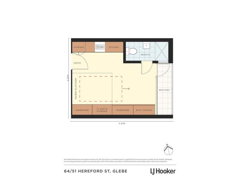 64/51 Hereford Street, Glebe, NSW 2037 - floorplan
