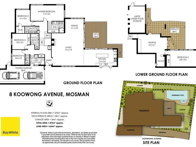 8 Koowong Avenue, Mosman, NSW 2088 - floorplan