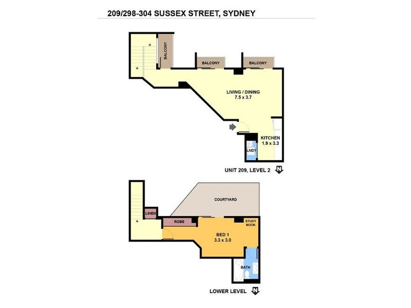 209/298-304 Sussex Street, Sydney, NSW 2000 - floorplan
