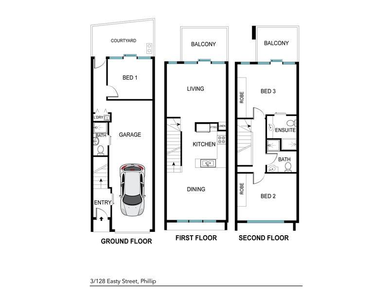 3/128 Easty Street, Phillip, ACT 2606 - floorplan
