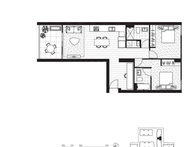 303/22A George Street, Leichhardt, NSW 2040 - floorplan