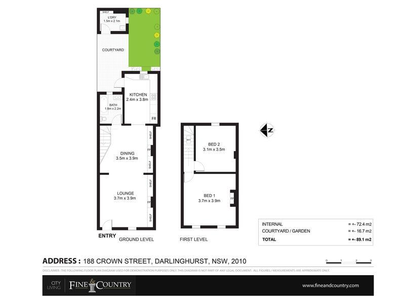 188 Crown Street, Darlinghurst, NSW 2010 - floorplan