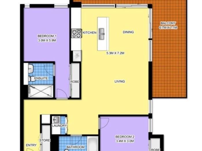 C1201/8 Wynne Ave, Burwood, NSW 2134 - floorplan