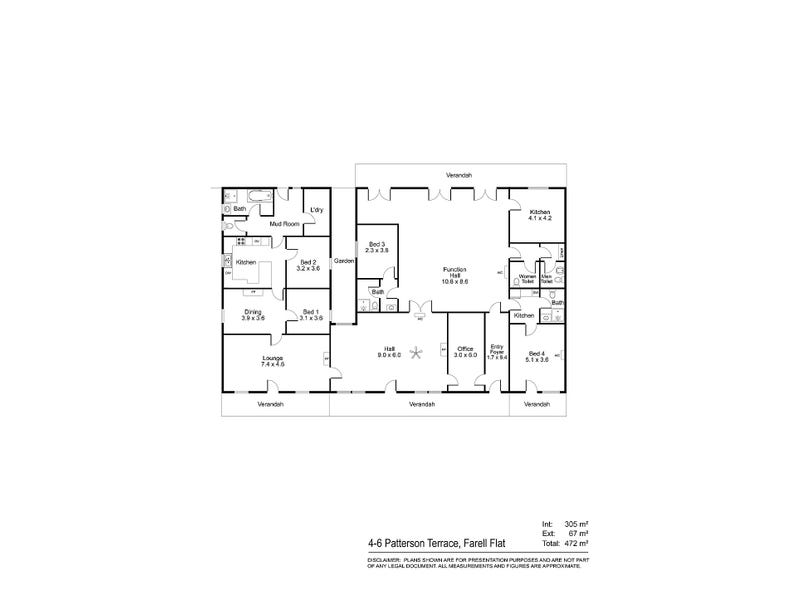 4-6 Patterson Terrace, Farrell Flat, SA 5416 - floorplan