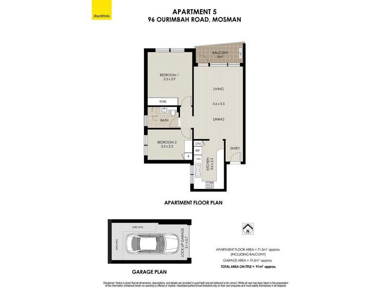 5/96 Ourimbah Road, Mosman, NSW 2088 - floorplan