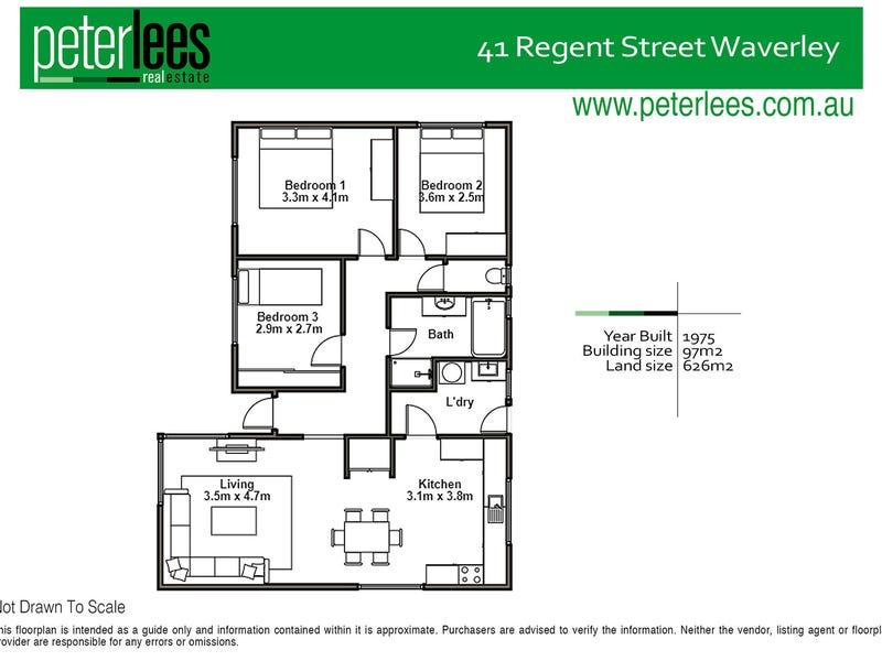 41 Regent Street, Waverley, Tas 7250 - floorplan