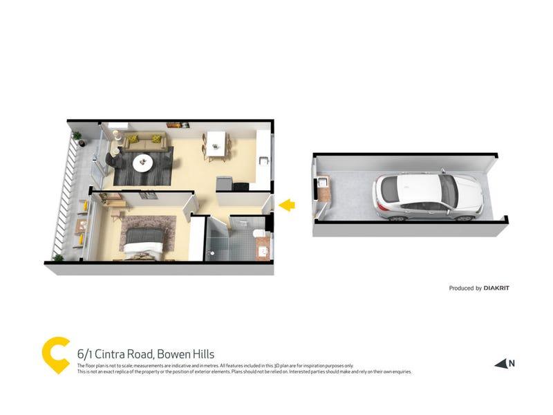 6/1 Cintra Road, Bowen Hills, Qld 4006 - floorplan