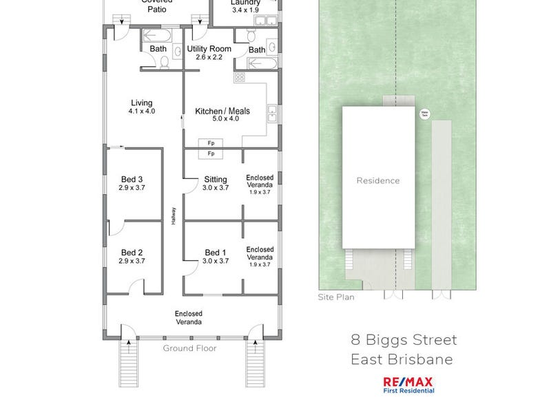 8 Biggs Street, East Brisbane, Qld 4169 - floorplan
