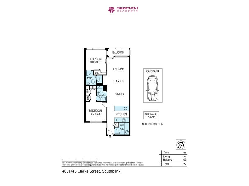 4801/45 Clarke St, Southbank, Vic 3006 - floorplan