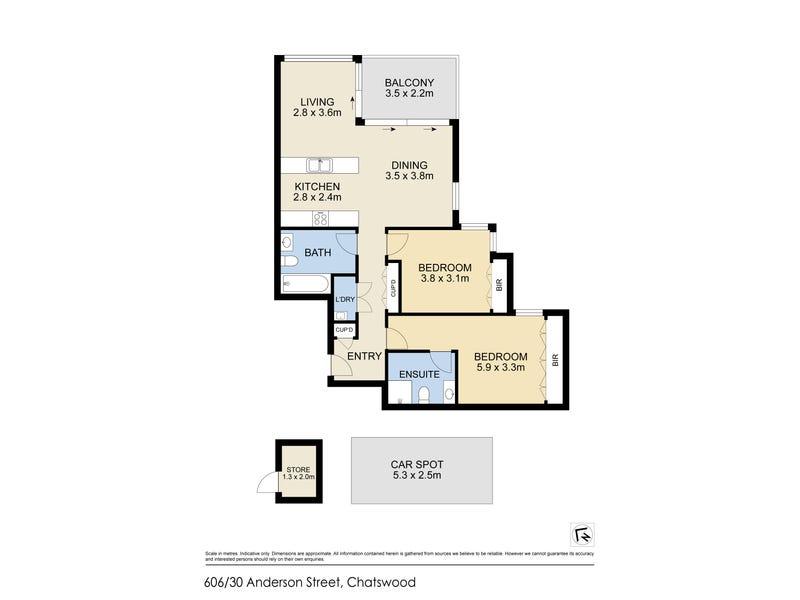 606/30 Anderson Street, Chatswood, NSW 2067 - floorplan