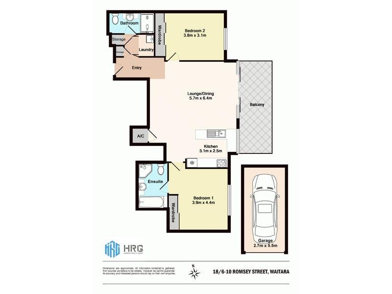 18/6-10 Romsey St, Waitara, NSW 2077 - floorplan