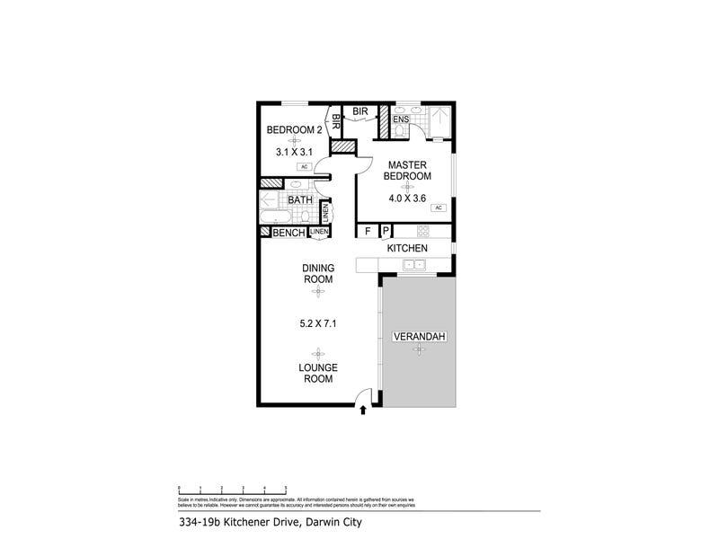 334/19B Kitchener Drive, Darwin City, NT 0800 - floorplan