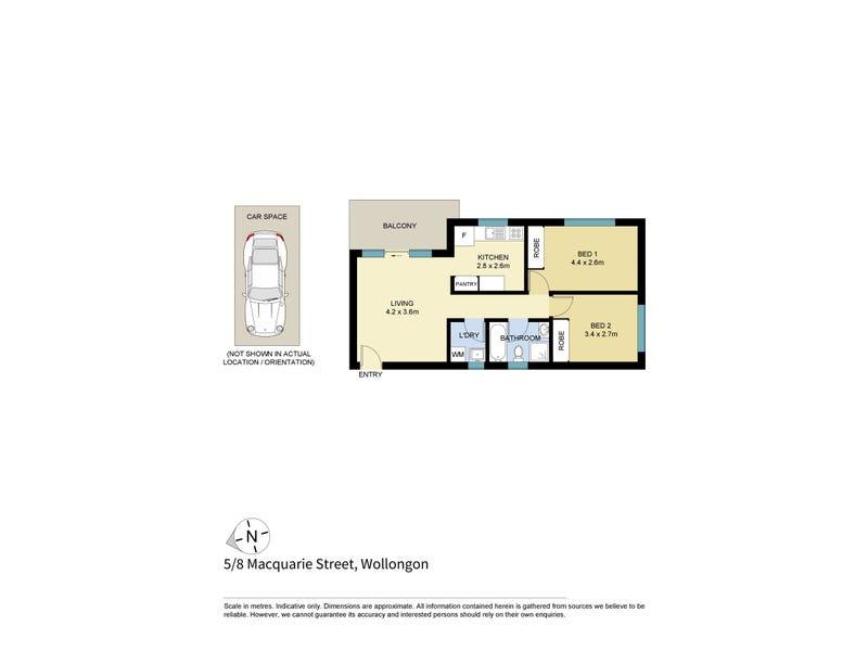 5/8  Macquarie Street, Wollongong, NSW 2500 - floorplan