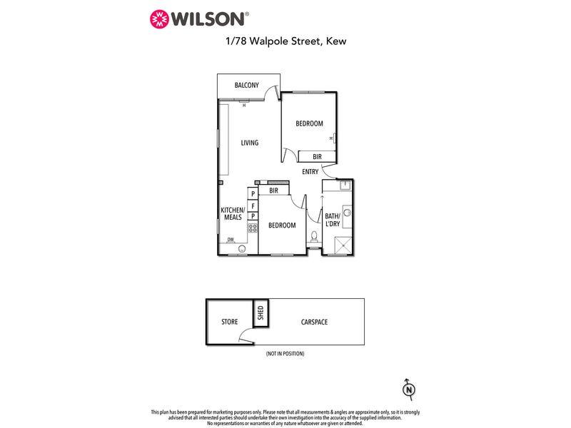 1/78 Walpole Street, Kew, Vic 3101 - floorplan