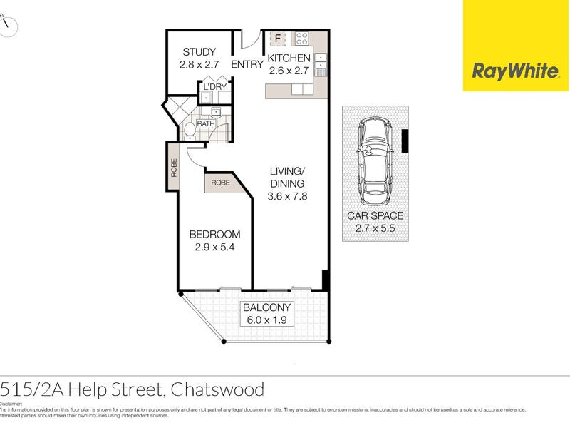 515/2A Help Street, Chatswood, NSW 2067 - floorplan