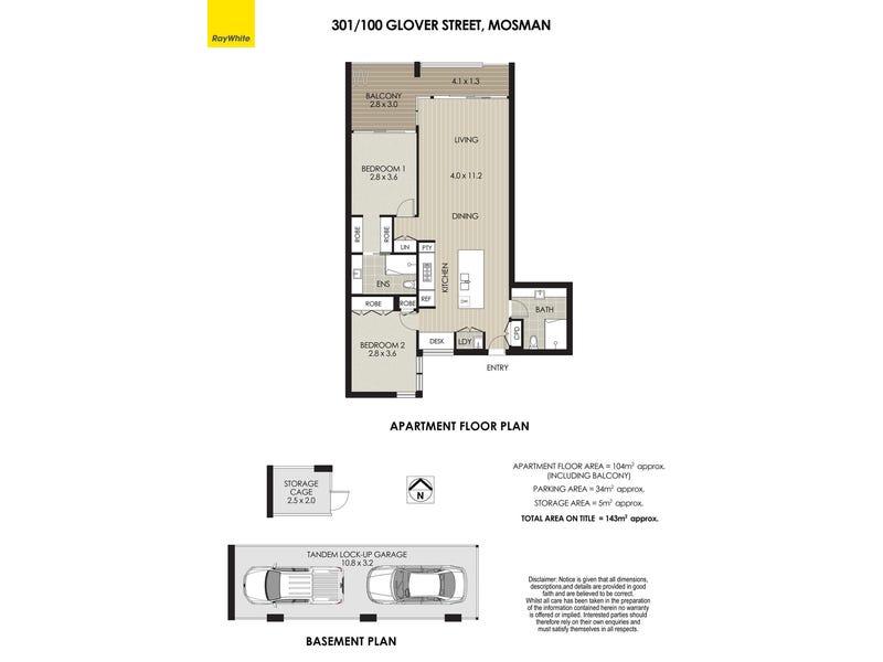 301/100 Glover Street, Mosman, NSW 2088 - floorplan