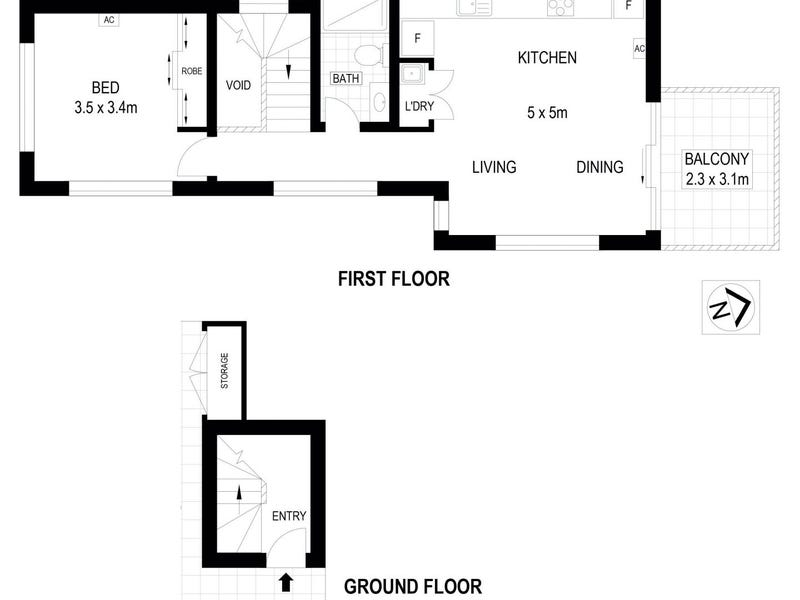 3/72 Smith, Thornbury, Vic 3071 - floorplan