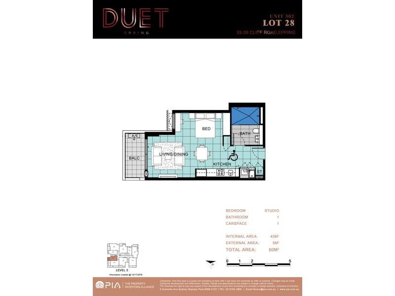 28/33-35 Cliff Rd, Epping, NSW 2121 - floorplan