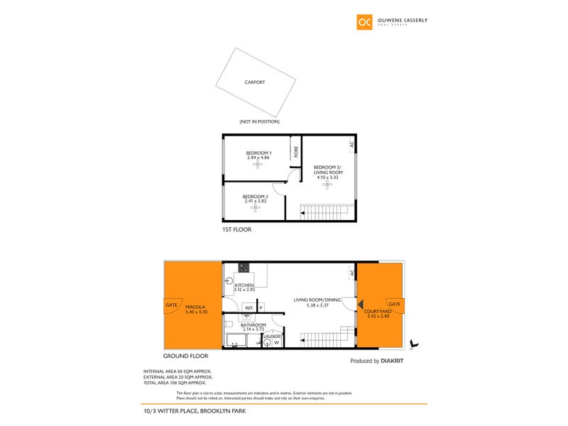 10/3 Witter Place, Brooklyn Park, SA 5032 - floorplan