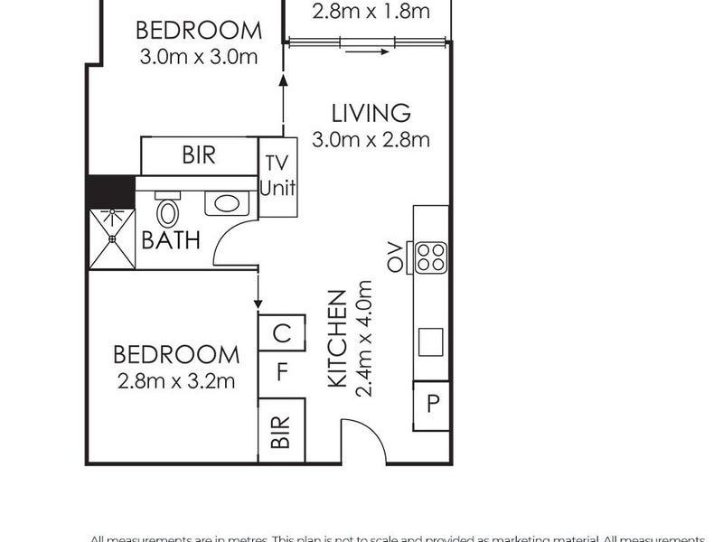 4401/220 Spencer, Melbourne, Vic 3000 - floorplan