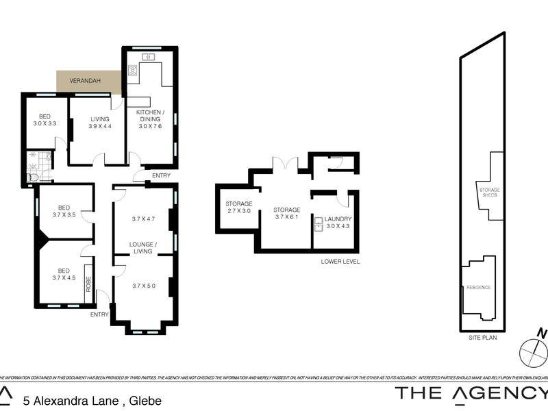5 Alexandra Lane, Glebe, NSW 2037 - floorplan
