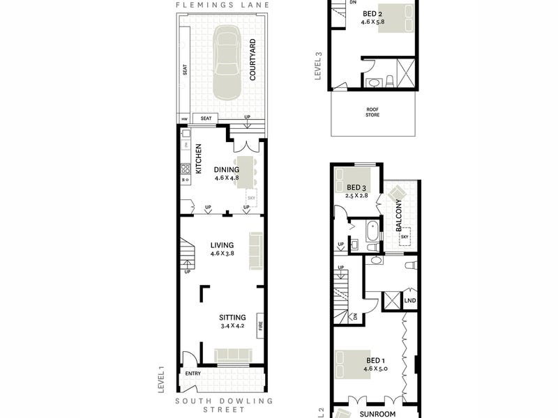 399 South Dowling Street, Darlinghurst, NSW 2010 - floorplan