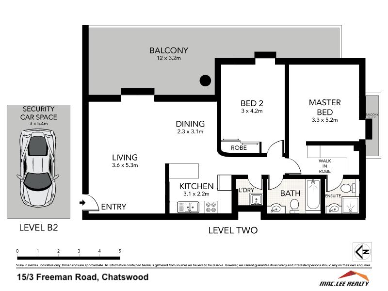 15/3-5 Freeman Road, Chatswood, NSW 2067 - floorplan
