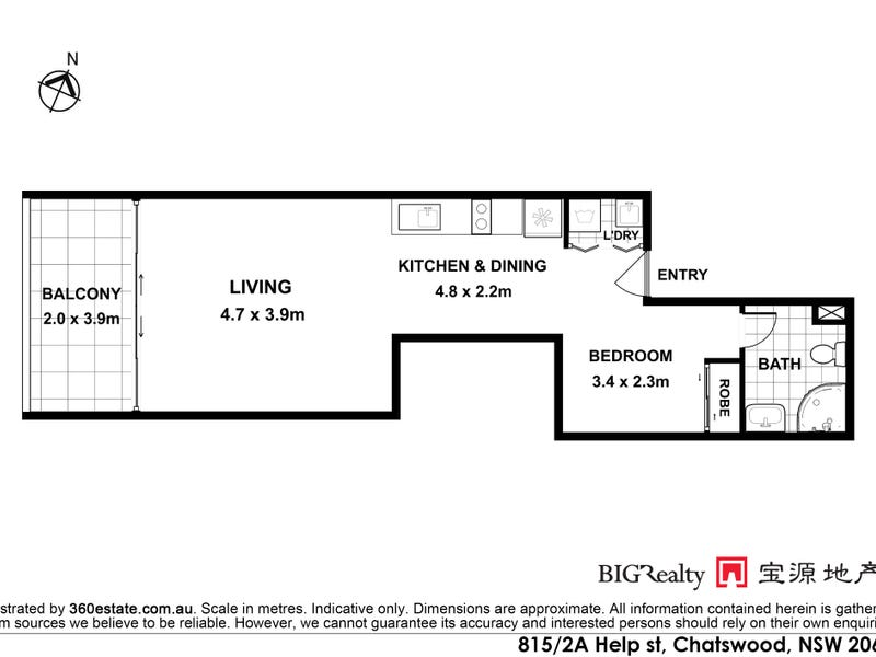 815/2A Help Street, Chatswood, NSW 2067 - floorplan