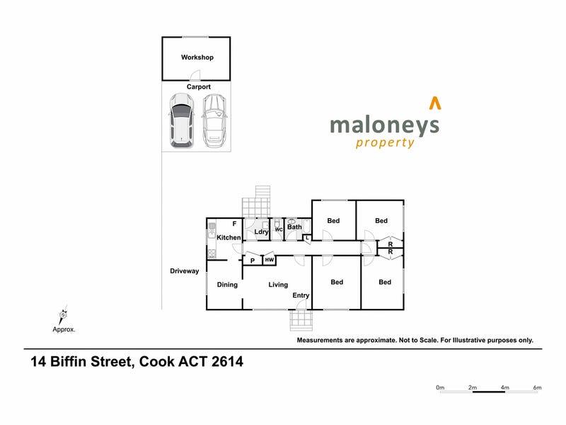 14 Biffin Street, Cook, ACT 2614 - floorplan