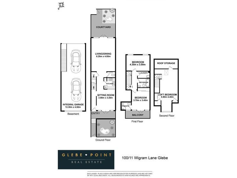 100/11 Wigram Lane, Glebe, NSW 2037 - floorplan