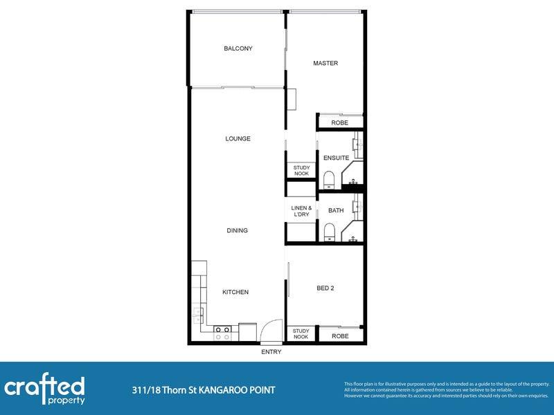 311/18 Thorn Street, Kangaroo Point, Qld 4169 - floorplan