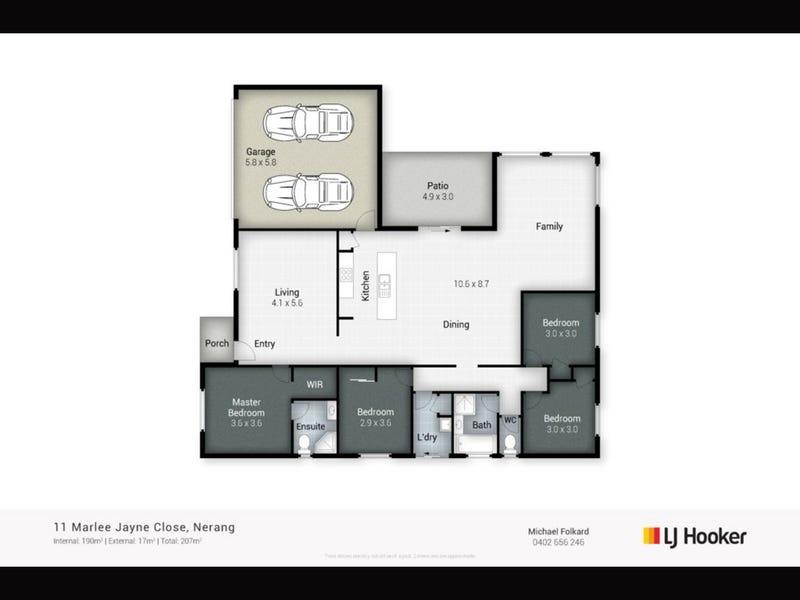 11 Marlee Jayne Close, Nerang, Qld 4211 - floorplan