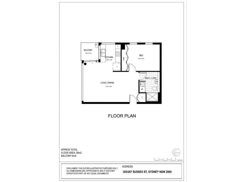303/267 Sussex St, Sydney, NSW 2000 - floorplan