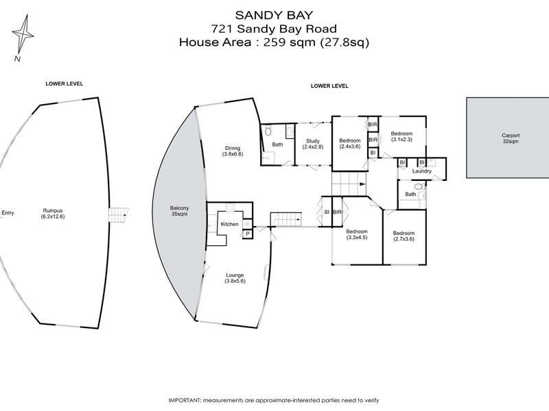 721 Sandy Bay Road, Sandy Bay, Tas 7005 - floorplan