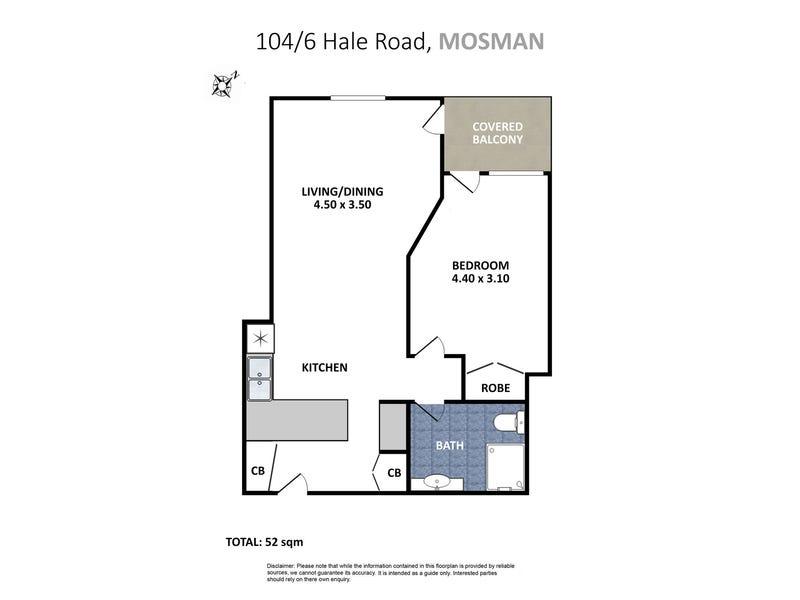 1-04/6 Hale Road, Mosman, NSW 2088 - floorplan