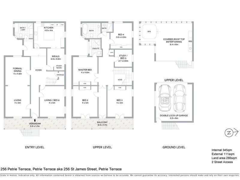 256 Petrie Terrace, Petrie Terrace, Qld 4000 - floorplan