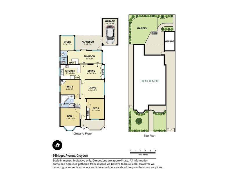 9 Bridges Avenue, Croydon, NSW 2132 - floorplan