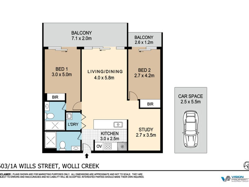 603/2a Willis Street, Wolli Creek, NSW 2205 - floorplan