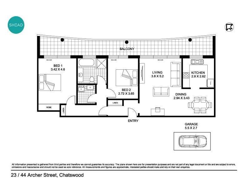 23/44 Archer Street, Chatswood, NSW 2067 - floorplan