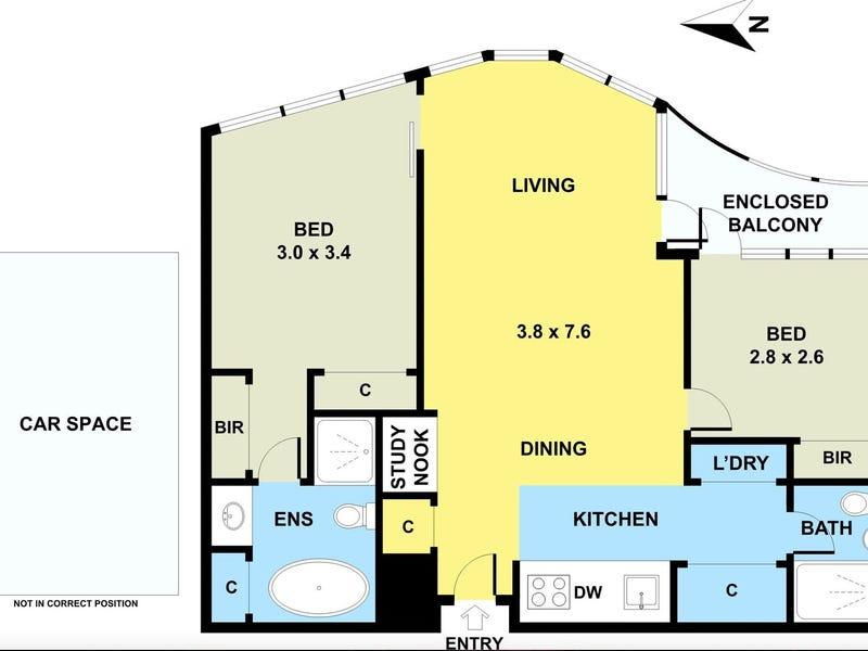 504/681 Chapel Street, South Yarra, Vic 3141 - floorplan